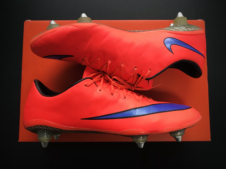 Nike Mercurial Vapor X Bright Crimson / Persian SG Pro Fibre Glass UK 10