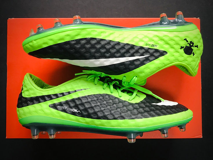 Nike Hypervenom Phanthom FG Flash Lime / White / Black FG NEW UK 6.5