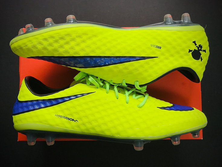 Nike Hypervenom Phantom I Volt / Purple / Black FG UK Size 11