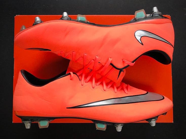 "Nike Mercurial Vapor X ""Metal Flash - Bright Mango"" SG Pro UK 10"