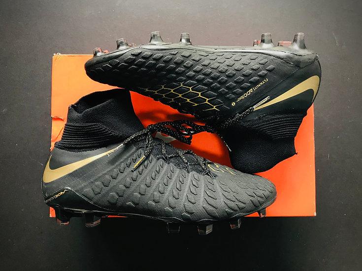 Nike Hypervenom Phantom 3 Elite DF FG Game of Gold - Black / Gold UK Size 7