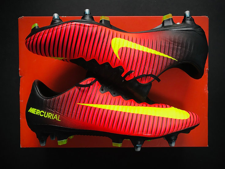 "Nike Mercurial Vapor XI ""Spark Brilliance"" Total Crimson / Volt / Pink Blast SG"