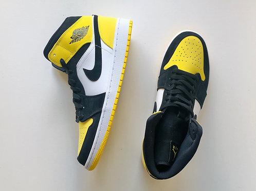 Jordan 1 Mid Yellow Toe Footasylum Exclusive