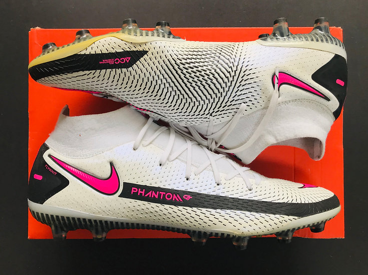 Nike Phantom GT Elite DF AG-PRO Daybreak - White / Pink Blast / Black UK Size 10