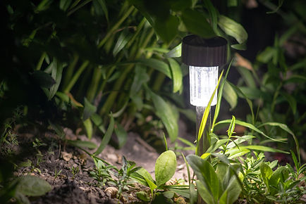 solar lanterns garden light with shrubs
