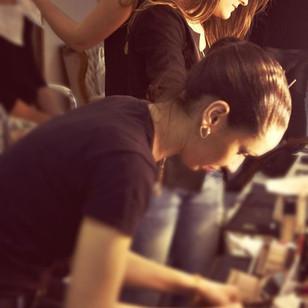 Make-up Artists at work