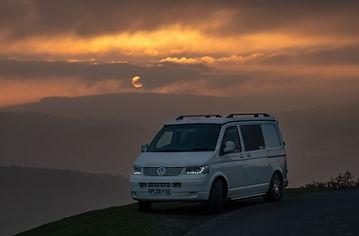 Wander Beyond Campervan in moonlit North