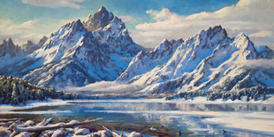 Winter Over Jackson Lake