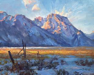 Teton Sunset Near Mormon Row