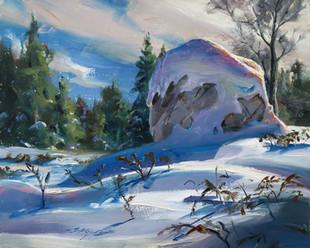 A Gneiss Boulder