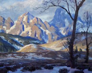Shadows Accross Teton Peaks