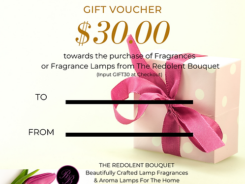 Gift Certificate: $30.00