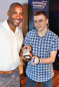 Connor at the Jack Petchy awards