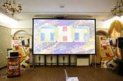 Экран 4 метра и проектор 5000 Лм