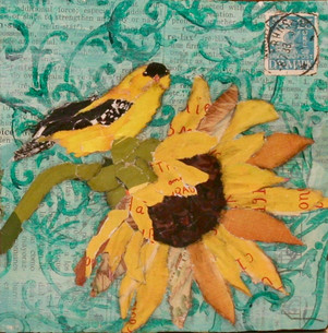 *SOLD* Gold Finch on Sunflower