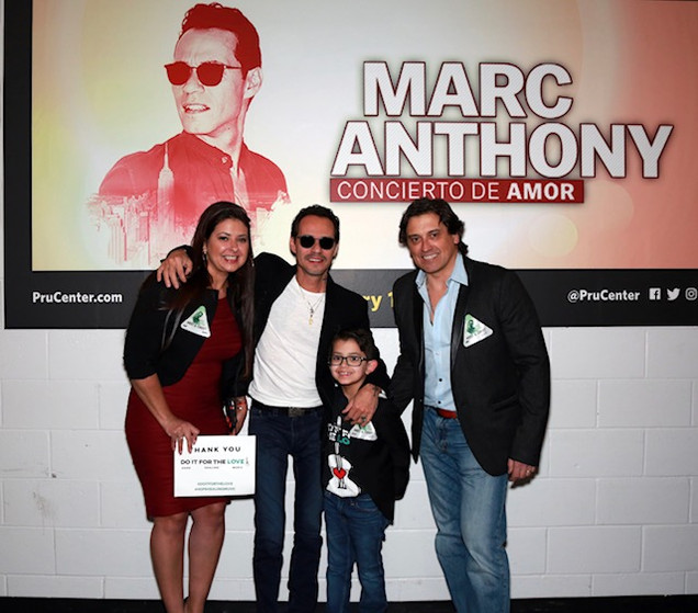Thiago sees marc anthony doitforthelove we have to thank do it for the love because you made thiagos dream come true he had the chance to meet marc anthony and enjoy his concert m4hsunfo