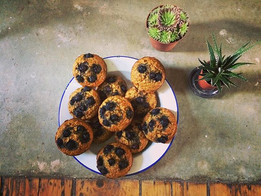 Vegan Turmeric Blueberry Breakfast Muffins