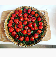 Seasonal Tomato & Spinach Tart