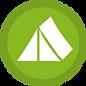 Grünes Zelt Icon