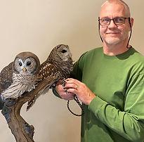 Al's owls and Al.jpg