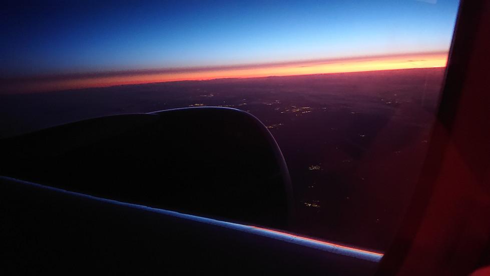 View of London at dawn