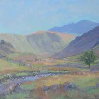 Langstrath Valley, afternoon light 10x20