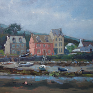 'The Parrog from Newport Sands' Oil on b