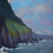 Cliffs from Pwllgwaelod Bay, Dinas