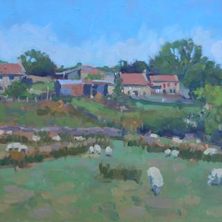 Quiet grazing, Yorkshire. 8x10%22 Oil on