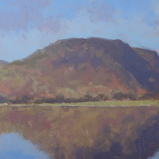 Reflections, Lake Buttermere 10x20_ Oil