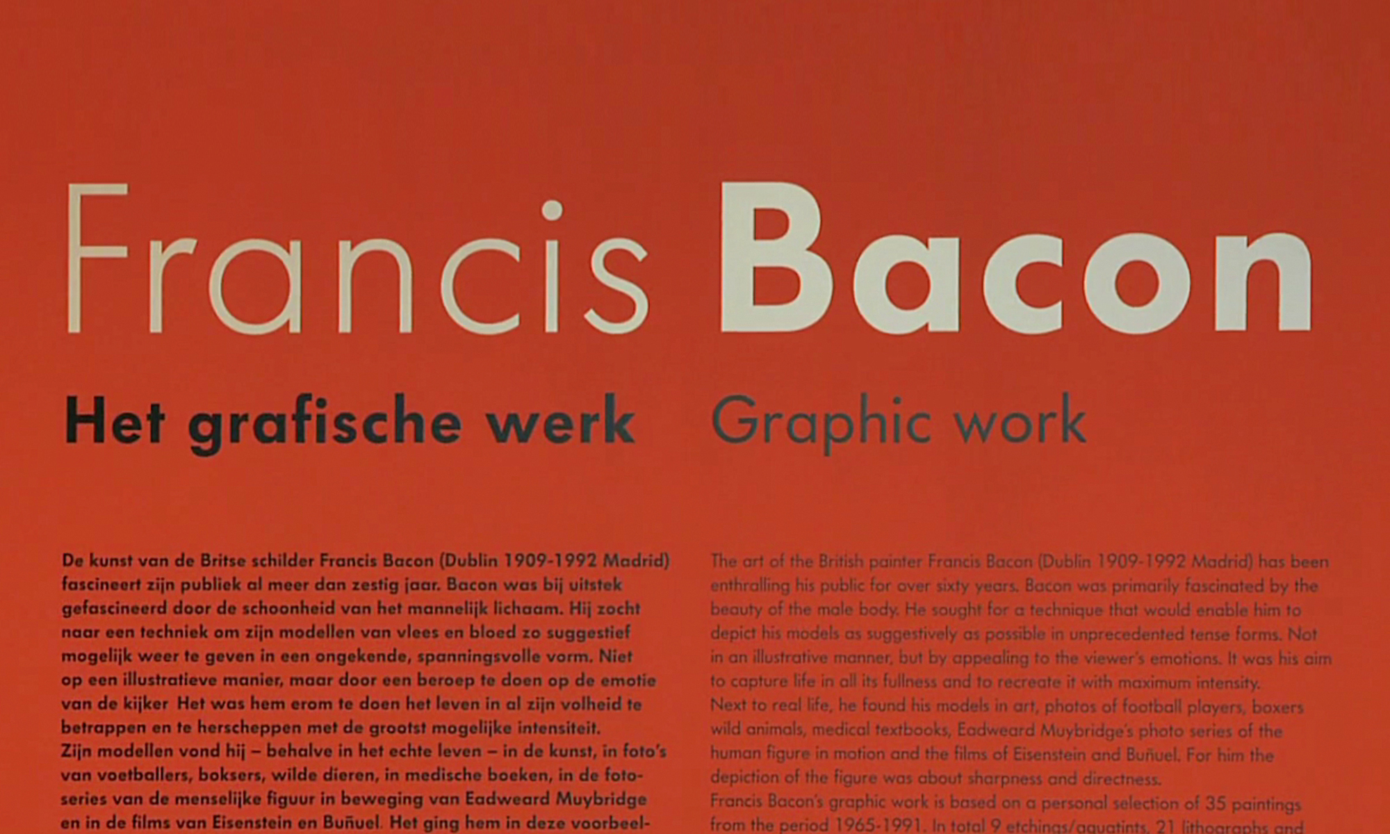 Francis Bacon - vernissage