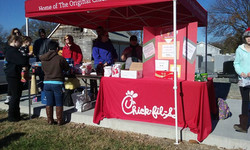 Chick fil A Booth