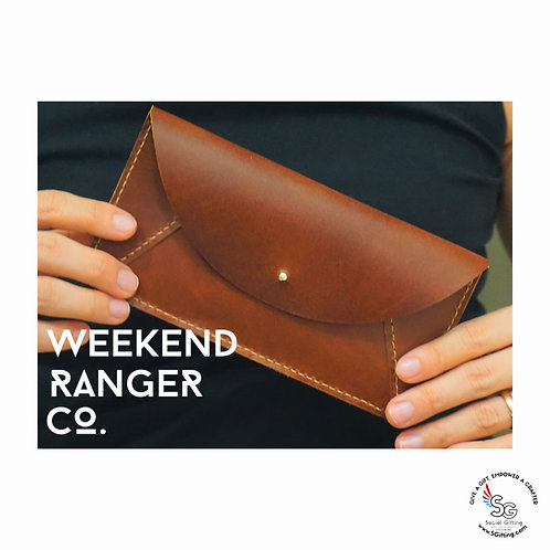 DIY Leather Envelope Clutch Kit by Weekend Ranger Co.