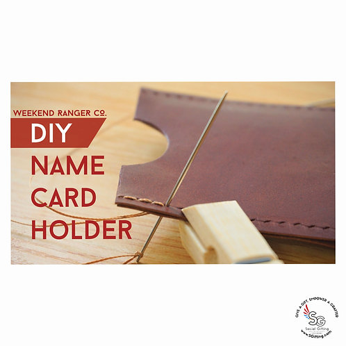 DIY Leather Name Card Holder Kit by Weekend Ranger Co.