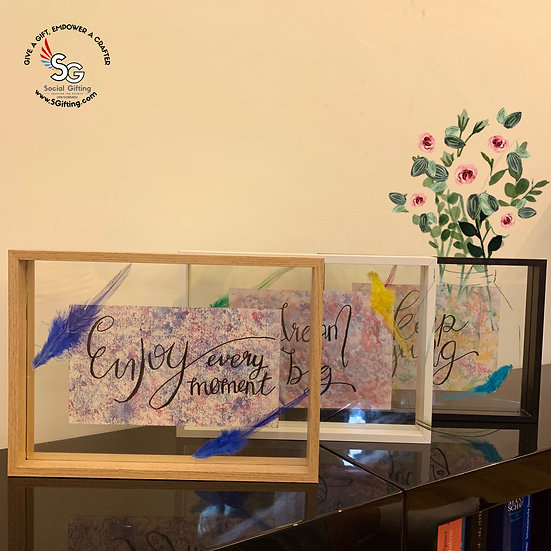 A4 Wooden Frame with Motivational Quote