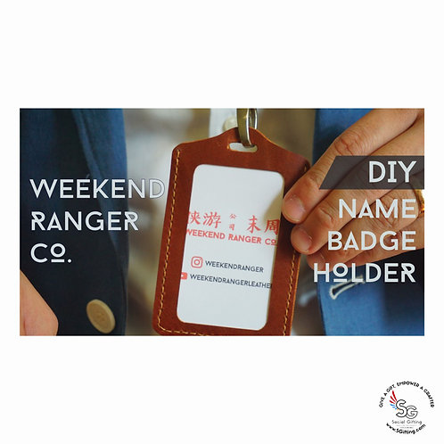 DIY Leather Name Badge Holder by Weekend Ranger Co.