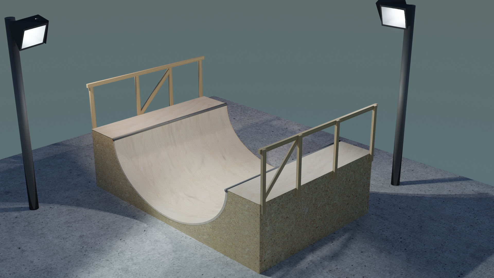 Skate Ramp: Blender Render