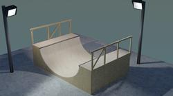 Skate Ramp: Blender Render