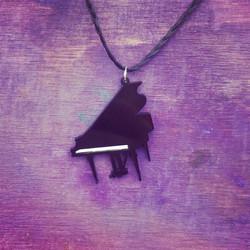 Laser Cut Piano Necklace