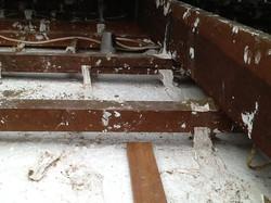 Repair of Sagging Ceiling Before