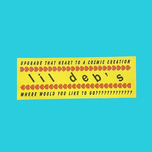 Lil Deb's x Nico Fontana Bumper Sticker