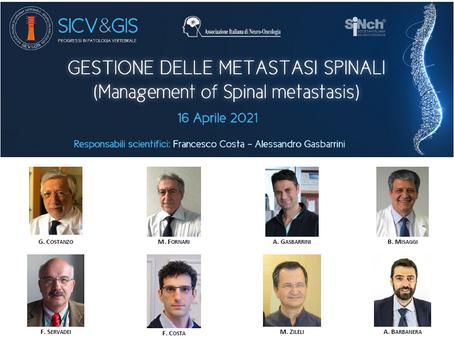 SICV&GIS - PROGRESSI IN PATOLOGIA VERTEBRALE             16-17 Aprile 2021