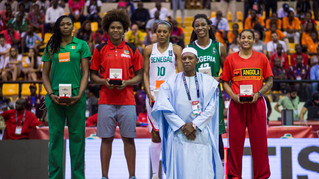 AFROBASKET 2017 ALL STAR AWARDS. LEIA DONGUE in the Star Five of the Championship.