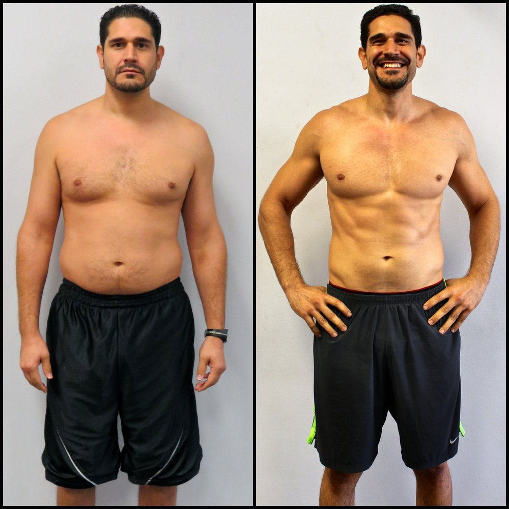 Nestor lost 9% body fat.