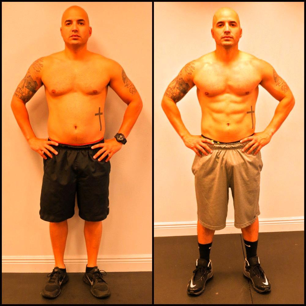 Eric lost 10% body fat.