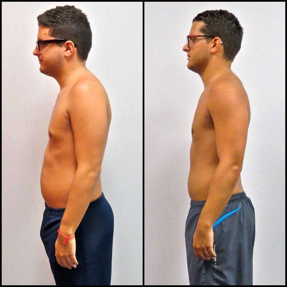 JB lost 8% body fat.