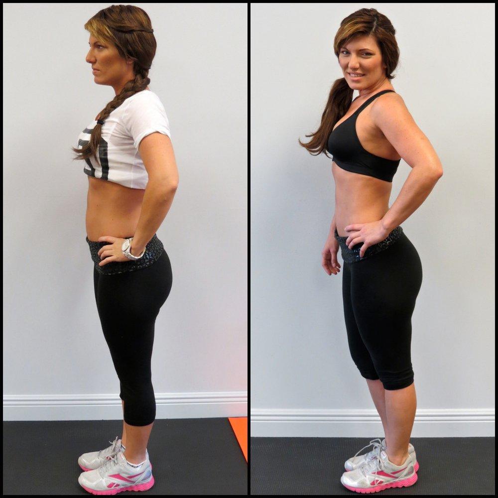 Yusy lost 8% body fat.