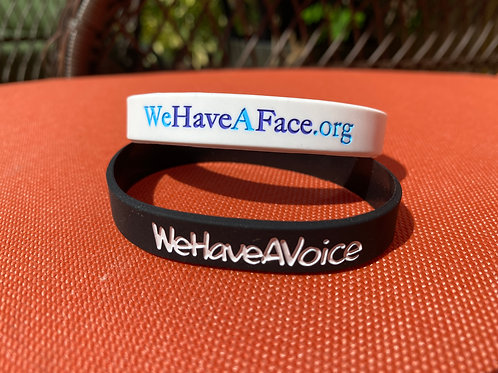 WeHaveAFace and WeHaveAVoice Wristband Set