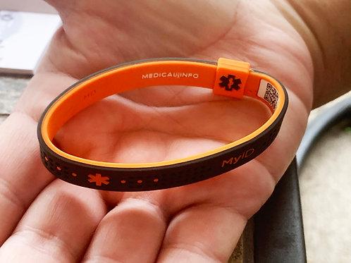 MyID! Sports Bracelet! Orange