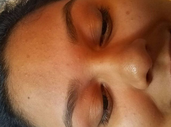 After brow wax & brow tint._Book _www.sp
